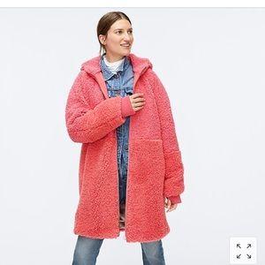 Mixed Teddy Sherpa Coat (Pink/Coral)
